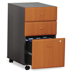 Mobile Pedestal (B/B/F) (Assembled) Series A Natural Cherry