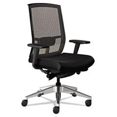 Gist Task Plus+ Chair, Black/Silver