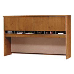 Bush Series C Collection 72W Four-Door Hutch, Box 1 of 2, Natural Cherry