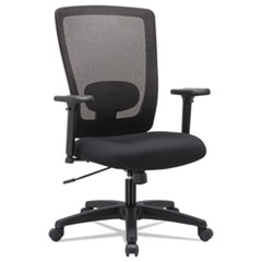 Alera Envy Series Mesh High-Back Swivel/Tilt Chair, Black