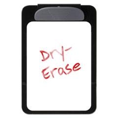 "Magnetic Dry-Erase Clipboard, 3/8"" Capacity, 6 x 9, Black"