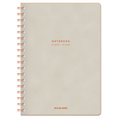 Collection Twinwire Notebook, Legal, 9 1/2 x 7 1/4, Tan/Red, 80 Sheets