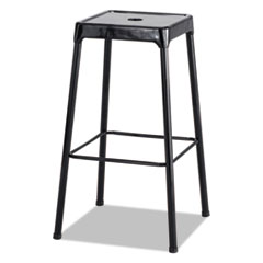 Bar-Height Steel Stool, Black