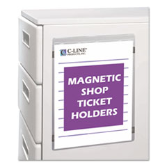 "Magnetic Shop Ticket Holder, Super Heavy, 50"", 9 x 12, 15/BX"