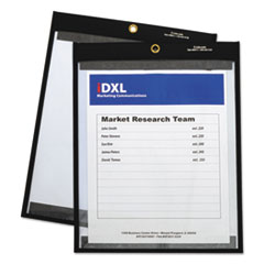 "Magnetic Stitched Shop Ticket Holders, Clear, 75"", 9 x 12, 25/Box"