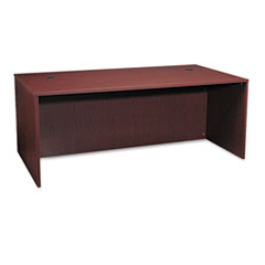 BL Laminate Series Rectangular Desk Shell, 72w x 36w x 29h, Mahogany
