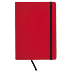 Casebound Hardcover Notebook, Legal Rule, Red Cover, 8 1/4 x 5 3/4, 71 Sheets/Pd