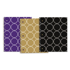 Modern Jen Product Notebook, College Rule, 10 1/2 x 8 1/2, 80 Shts/Pad, 3/Pack