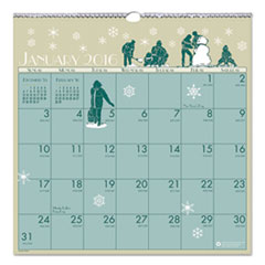 Illustrated Monthly Wall Calendar, 12 x 12, 2016
