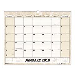Monthly Horizontal Wall Calendar, 14 7/8 x 12, 2016