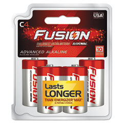 Fusion Advanced Alkaline Batteries, C, 4/Pack
