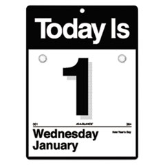 """Today Is"" Wall Calendar, 6 5/8 x 9 1/8, White, 2018"