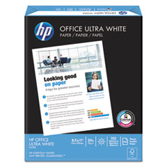 Office Ultra-White Paper, 92 Bright, 20lb, 8-1/2 x 11, 500/Ream, 10/Carton