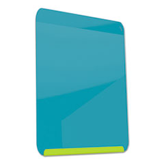 LINK Board Premium Magnetic Markerboard, 24 x 18, Bright Blue Surface/Lime Frame
