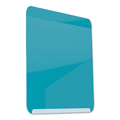 LINK Board Premium Magnetic Markerboard, 24x18, Bright Blue Surface/White Frame