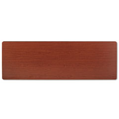 Rectangular Training Table Top Without Grommets, 72w x 24d, Bourbon Cherry