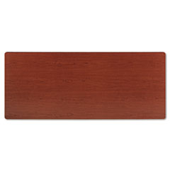 Rectangular Training Table Top Without Grommets, 72w x 30d, Bourbon Cherry