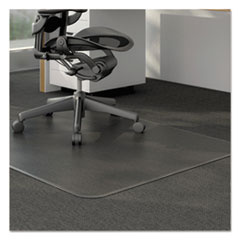Studded Chair Mat for Low Pile Carpet, 46 x 60, Clear