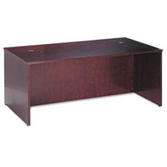 BW Veneer Series Rectangular Desk Shell, 72w x 36w x 29h, Mahogany