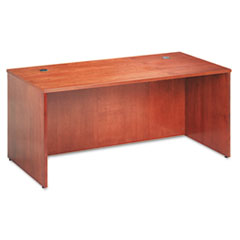 BW Veneer Series Rectangular Desk Shell, 66w x 30w x 29h, Bourbon Cherry