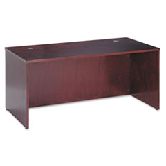 BW Veneer Series Rectangular Desk Shell, 66w x 30w x 29h, Mahogany