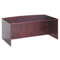 BW Veneer Series Bow Front Desk Shell, 72w x 42w x 29h, Mahogany
