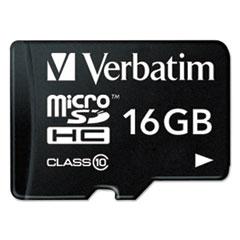 microSDHC Card w/Adapter, Class 10, 16GB