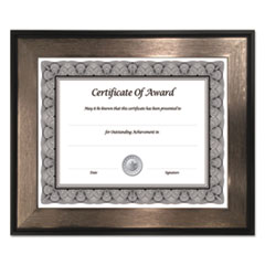 Director Series Document and Photo Frame, 8 1/2 x 11, Mahogany/Silver Frame