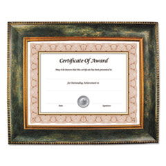 Executive Series Document and Photo Frame, 8 1/2 x 11, Brown Frame