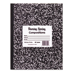 Marble Cover Composition Book, Wide Rule, 10 x 8, 60 Pages