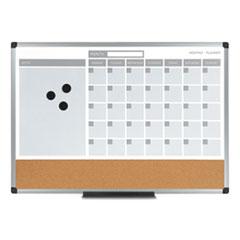 3-in-1 Calendar Planner Dry Erase Board, 36 x 24, Silver Frame