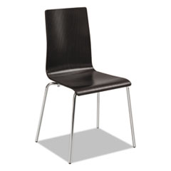 Bosk Stack Chair, Espresso, 2/Carton