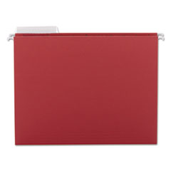 Color Hanging Folders with 1/3-Cut Tabs, 11 Pt. Stock, Red, 25/BX