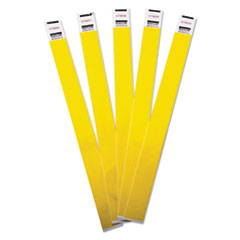 Crowd Management Wristbands, Sequentially Numbered, 10 x 3/4, Yellow, 500/Pack