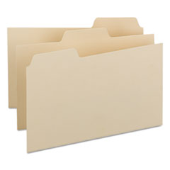 Self-Tab Card Guides, Blank, 1/3 Tab, Manila, 8 x 5, 100/Box