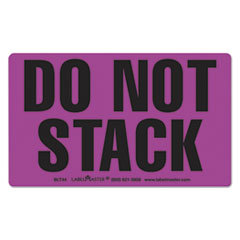 Shipping and Handling Self-Adhesive Label, 5 7/8 x 5 3/8, DO NOT STACK, 500/Roll