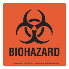 Hazmat Self-Adhesive Shipping Label, 5 1/2 x 4 1/2, BIOHAZARD, 500/Roll