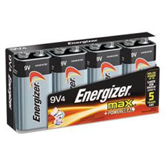 MAX Alkaline Batteries, 9V, 4 Batteries/Pack