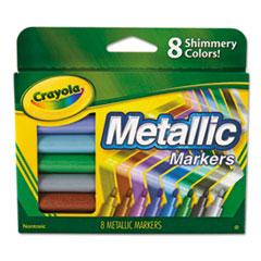 Metallic Markers, Assorted, 8/Set