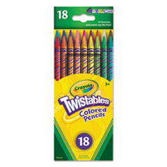 Twistables Colored Pencils,18 Assorted Colors/Pack