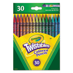 Twistables Colored Pencils, 30 Assorted Colors/Pack