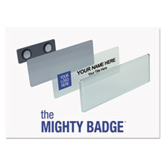 Name Badge Bulk Kit, Silver, Laser/Inkjet, 1 x 3, 50 per Kit
