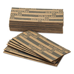 FLAT TUBULAR COIN WRAPPERS, DOLLAR COIN, $25, POP-OPEN
