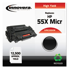 Remanufactured CE255X(M) (55XM) High-Yield MICR Toner, Black