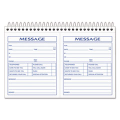 Spiralbound Message Book, 4 1/4 x 5, Carbonless Duplicate, 200 Sets/Book