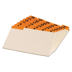 Laminated Tab Index Card Guides, Daily, 1/5 Tab, Manila, 4 x 6, 31/Set