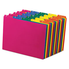 Top Tab File Guides, Alpha/A-Z 1/5 Tab, Polypropylene, Letter, 25/Set