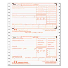 W-2 Tax Form, 4-Part Carbonless, 24 Forms TOP2204