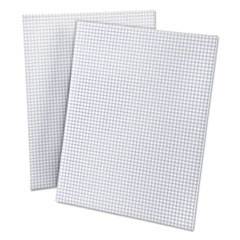 Quadrille Pads, 4 Squares/Inch, 8 1/2 x 11, White, 50 Sheets TOP22000