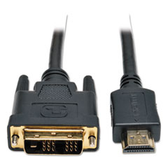 P566-006 6ft HDMI to DVI Gold Digital Video Cable HDMI-M / DVI-M, 6
